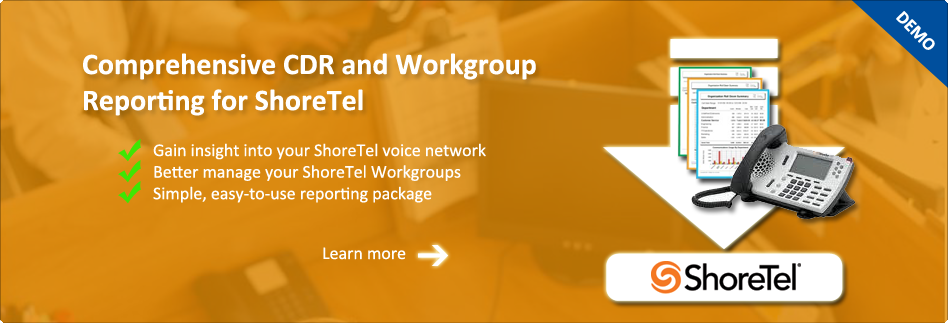 CDR and Workgroup Reporting for ShoreTel